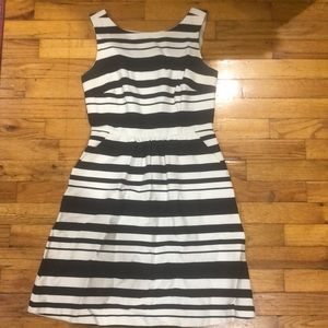 The Limited Navy and White Striped Dress